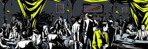 Underground bar Prohibition vector illustration