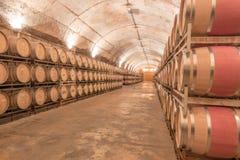 Jean Leon underground barrel cellars Stock Image