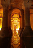 Underground Basilica Cistern. In Istanbul,Turkey Royalty Free Stock Photography