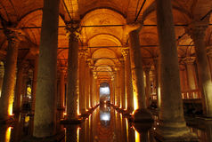 Underground Basilica Cistern. In Istanbul,Turkey Stock Photography
