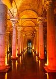 Underground Basilica Cistern Royalty Free Stock Images