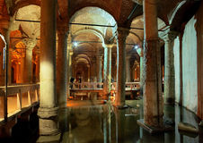 Underground Basilica Cistern in Istanbul stock image