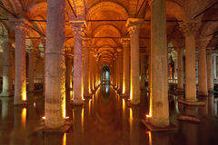 Underground Basilica Cistern in Istanbul Stock Photography