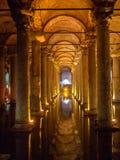 Underground Basilica Cistern, Istanbul, Turkey Royalty Free Stock Image