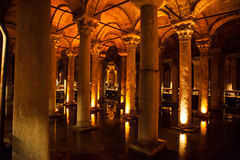 UNDERGROUND BASILICA CISTERN, ISTANBUL, TURKEY Royalty Free Stock Photo