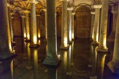 Underground Basilica Cistern, Istanbul, Turkey Stock Photography