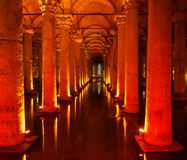 Underground Basilica Cistern Stock Photo