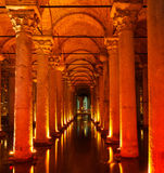 Underground Basilica Cistern Royalty Free Stock Image