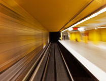 Underground (blurred) Stock Photo