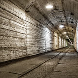 Underground bunker from cold war Stock Images
