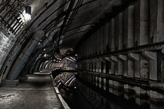Underground bunker from cold war stock image
