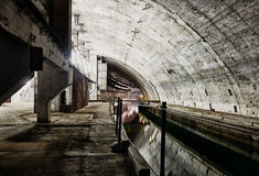 Underground bunker from cold war Royalty Free Stock Photos