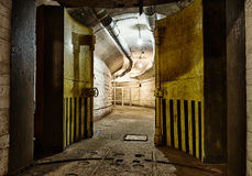 Underground bunker from cold war Royalty Free Stock Photography