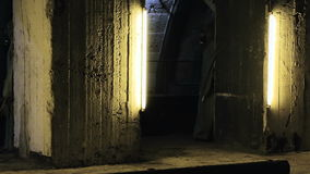 The underground bunker. Underground bunker for shelter when nuclear war stock video