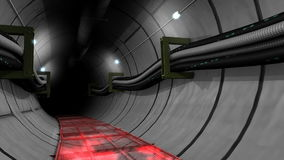 Underground cable and pipe tunnel. stock footage