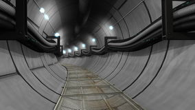 Underground cables, gas, utility tunnel stock video footage