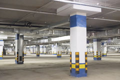 Underground car garage Royalty Free Stock Photography