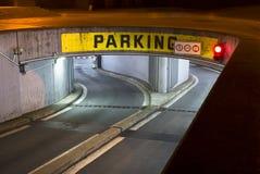 Underground car pak Stock Image