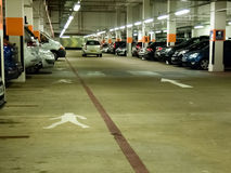 Underground car park Stock Images