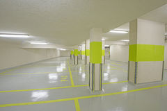 Underground car park with columns Stock Photography