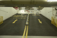 Underground car park. Driving directions Stock Images