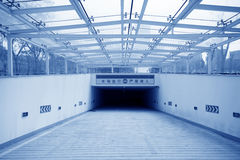 Underground car park entrance in modern city Stock Image