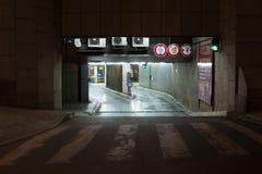 Underground car park Royalty Free Stock Photo
