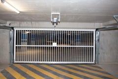 Free Underground Car Park Garage Parking Entry Door Gate Royalty Free Stock Image - 143808476