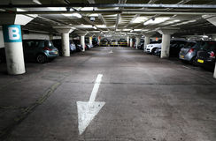 Underground car park. With parked cars Stock Photo