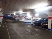 Underground car park. Stock Photo