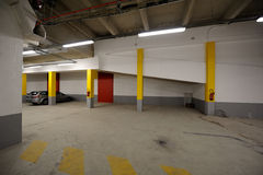 Underground car parking Royalty Free Stock Image