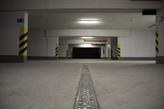 Underground car parking Stock Images