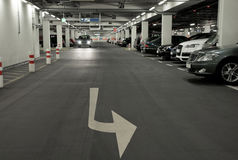 Underground carpark Royalty Free Stock Photography