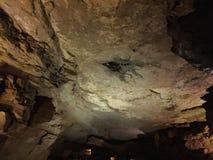 Underground Cave. Erosional effects of water creating underground caverns Stock Photo
