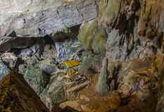 Underground cave in Laos, with stalagmites and stalactites Stock Image