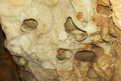 Underground cave wall Royalty Free Stock Photography
