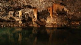 Underground cave world of Demanovska jaskyna slobody, Slovakia stock images