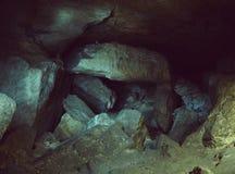 Underground caves tunnel Stock Image