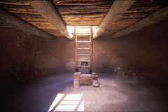 Underground ceremonial room, Pecos National Historical Park, NM royalty free stock photo