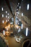 Underground chamber inside Turda Salt Mine Stock Image