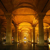 Underground cistern in Istanbul Royalty Free Stock Photos