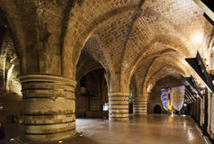 Underground Citadel and prison. Akko. Israel. Royalty Free Stock Image