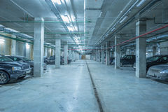 Underground city parking. Royalty Free Stock Photos