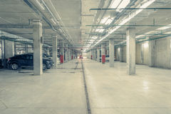 Underground city parking. Royalty Free Stock Images