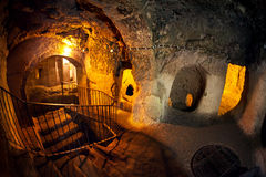 Underground city in Turkey Stock Photography