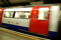 Underground coach Stock Image