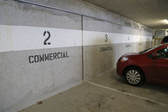 Underground commercial parking Stock Photo