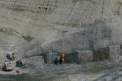 Underground Construction Site Royalty Free Stock Image