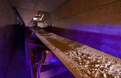 Underground Conveyor Belt Royalty Free Stock Photo
