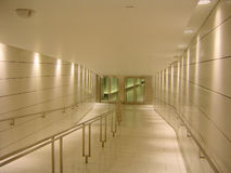 Underground corridor. Empty underground corridor. Contemporary interior design Royalty Free Stock Photo